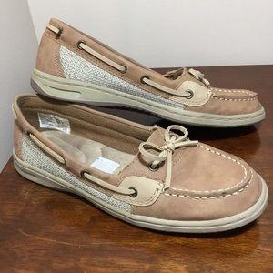 Dexflex Comfort tan deck shoes loafers size 7